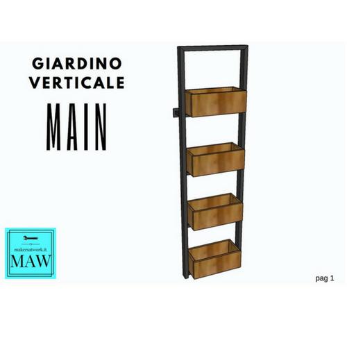 Progetto giardino verticale makers at work for Giardino verticale