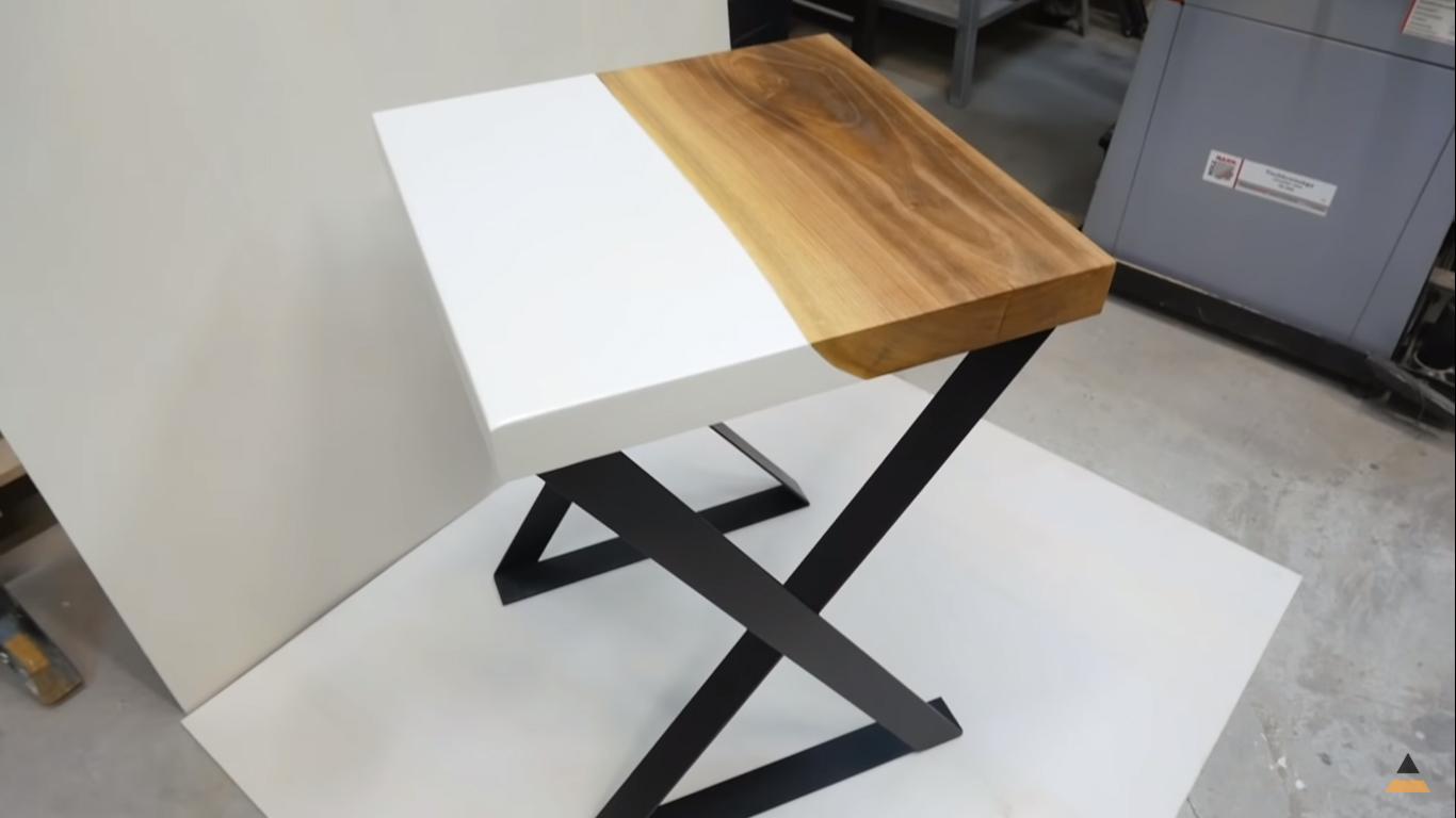 Tavoli Da Salotto Fai Da Te : Tavolo in legno e resina fai da te makers at work
